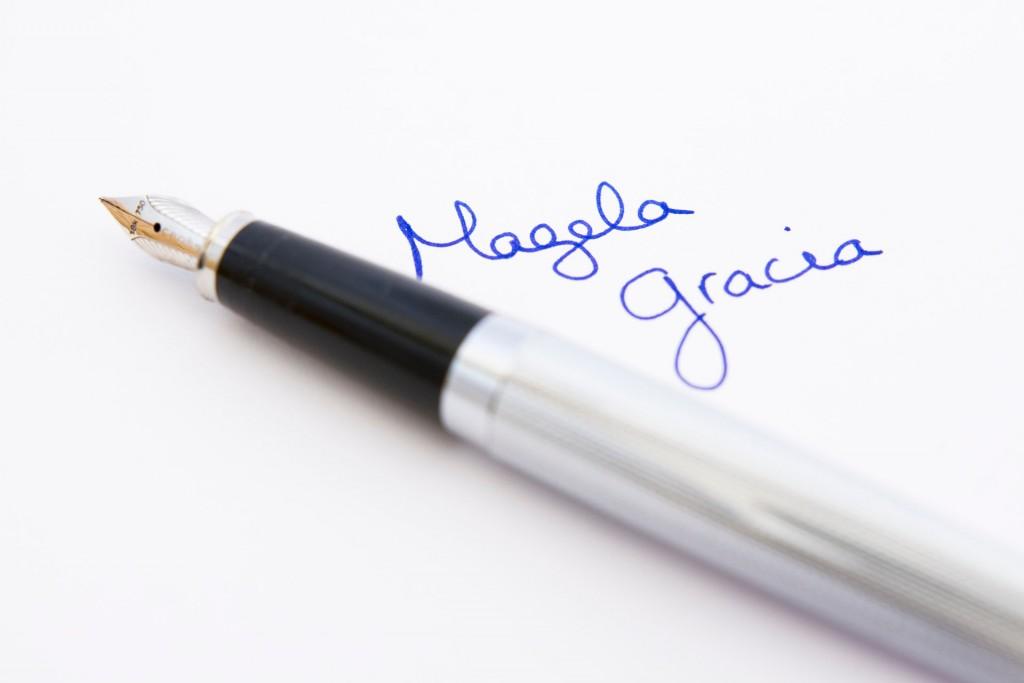 Firma de Magela Gracia